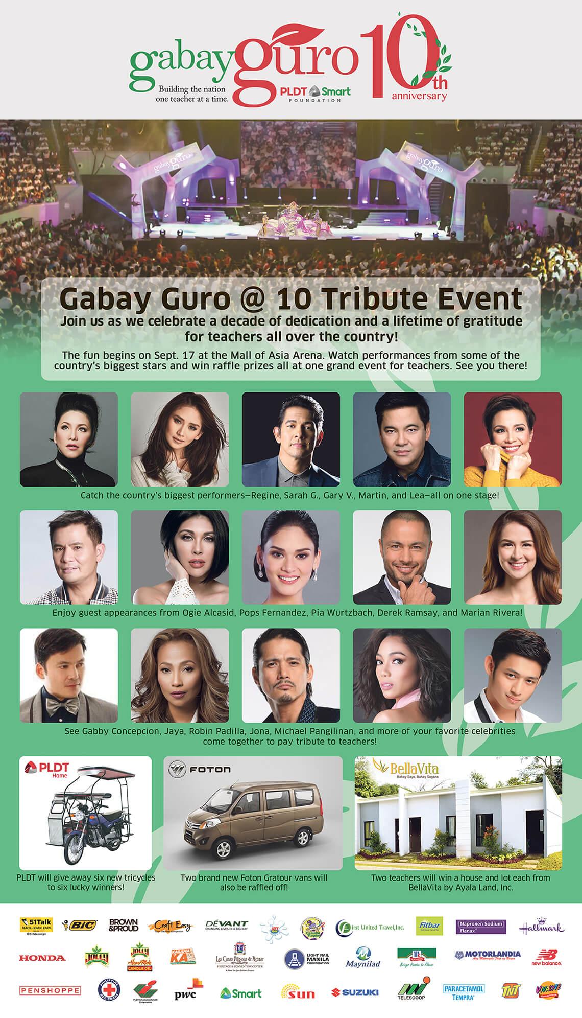 Gabay Guro @ 10 Tribute Event